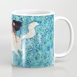White giant cat Coffee Mug