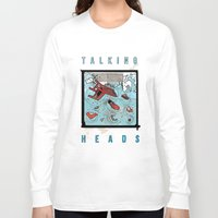 talking heads Long Sleeve T-shirts featuring Talking Heads Limited Edition Music Poster Print by Nick Howland
