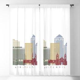 Albuquerque skyline poster Blackout Curtain