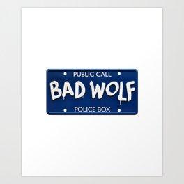 Bad Wolf Police Box Art Print