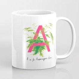 A is for Asparagus Fern Coffee Mug