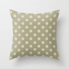 Camel Polka Dots Throw Pillow