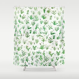 Various Plants and Weeds Shower Curtain