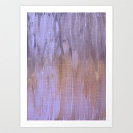 Orange and Purple Brush Strokes Art Print