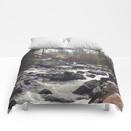 Morning Mountain Escape - Nature Photography Comforters