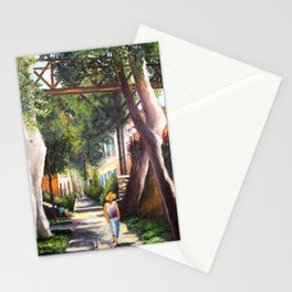 Bridge of sighs painting in Barranco - Lima, Peru #eclecticart Stationery Cards