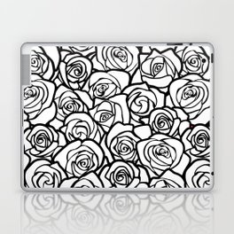 Vintage black and white roses Laptop & iPad Skin