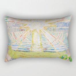"Edvard Munch ""The Sun"", 1910–11 Rectangular Pillow"