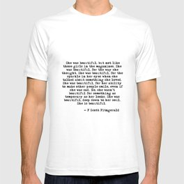 She was beautiful - Fitzgerald quote T-shirt