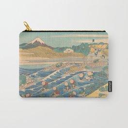Fuji Seen from Kanaya on the Tōkaidō, Series Thirty-six Views of Mount Fuji by Katsushika Hokusai Carry-All Pouch