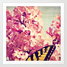 Lilac Monarch Art Print
