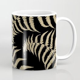 Fern Leaves Pattern - Golden Dream #1 #ornamental #decor #art #society6 Coffee Mug