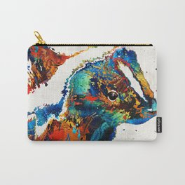 Colorful Skunk Art - Dee Stinktive - By Sharon Cummings Carry-All Pouch