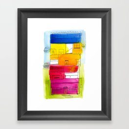 Rainbow High Rise Framed Art Print