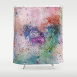 Star Gazer - Abstract, space, ink painting Shower Curtain