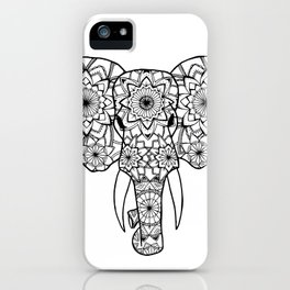 Mandala Elephant Illustration iPhone Case