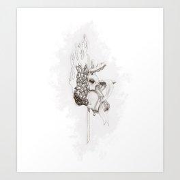 Battle Over the Soul Art Print