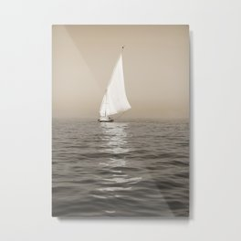 Ship on the Nile Metal Print