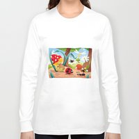 insects Long Sleeve T-shirts featuring Insects family on the ground. by Danilo Sanino