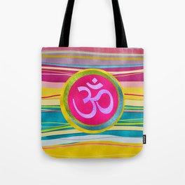 Colorfull Glitter OM symbol on  Pattern Tote Bag