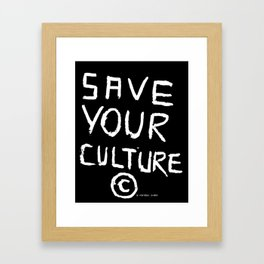 SAVEYOURCULTURE Framed Art Print
