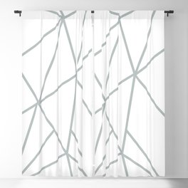 ABSTRACT DESIGN (SILVER-WHITE) Blackout Curtain