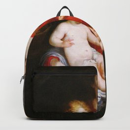 Vincent Malo - Madonna and Child in a garden arbour Backpack