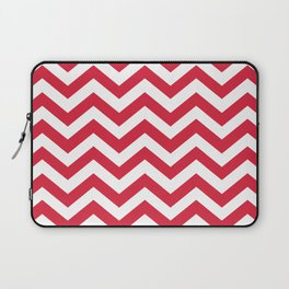 Red Chevron Pattern. Colorful zig zag stripe desig Laptop Sleeve