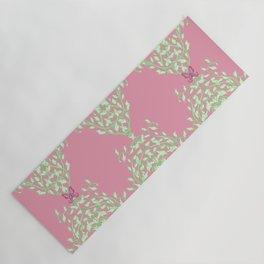 Pink Butterfly Vine Baroque Yoga Mat