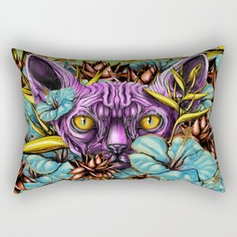 The Sphynx and the Flowers Rectangular Pillow