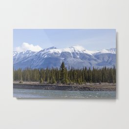 On The Athabasca Metal Print
