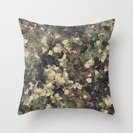 Camouflage Hops Throw Pillow