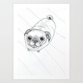Slug Pug Art Print