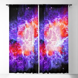The Crab Nebula in Purple Blackout Curtain