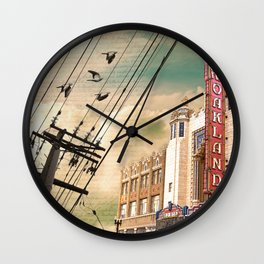 From Oakland, With Love Wall Clock