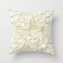 gold detailed waves Throw Pillow