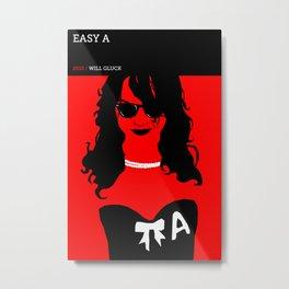 Easy A Metal Print