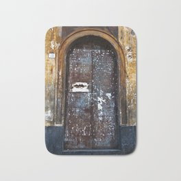 Old Sicilian door of Catania Bath Mat