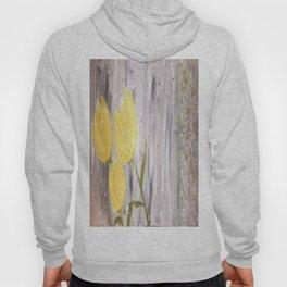 Yellow Tulips in Grey Hoody
