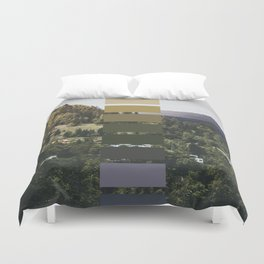 The sea, the land, the mountains Duvet Cover