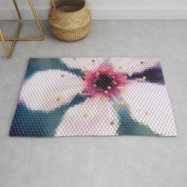 Pixelated Cherry Blossom Rug