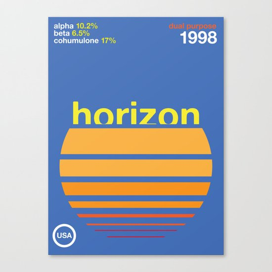horizon//single hop Canvas Print