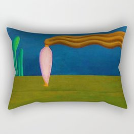 Lonely Female Figure by Tarsila do Amaral Rectangular Pillow