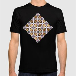 Wooden Criss-Cross Screen Pattern T-shirt