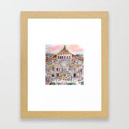 Mexico City Bellas Artes Framed Art Print