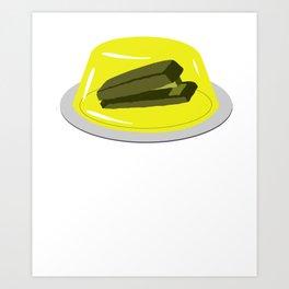 Stapler In Jello, Office Prank For The Brave Design, Original Funny Gift Idea, Dwight Best Quote Fro Art Print