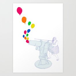 Balloon Cannon Art Print