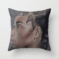 fka twigs Throw Pillows featuring FKA Twigs by annelise johnson