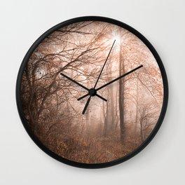 Misty Sun Kissed Trail Wall Clock