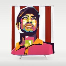Tiger Woods Pop Art Shower Curtain